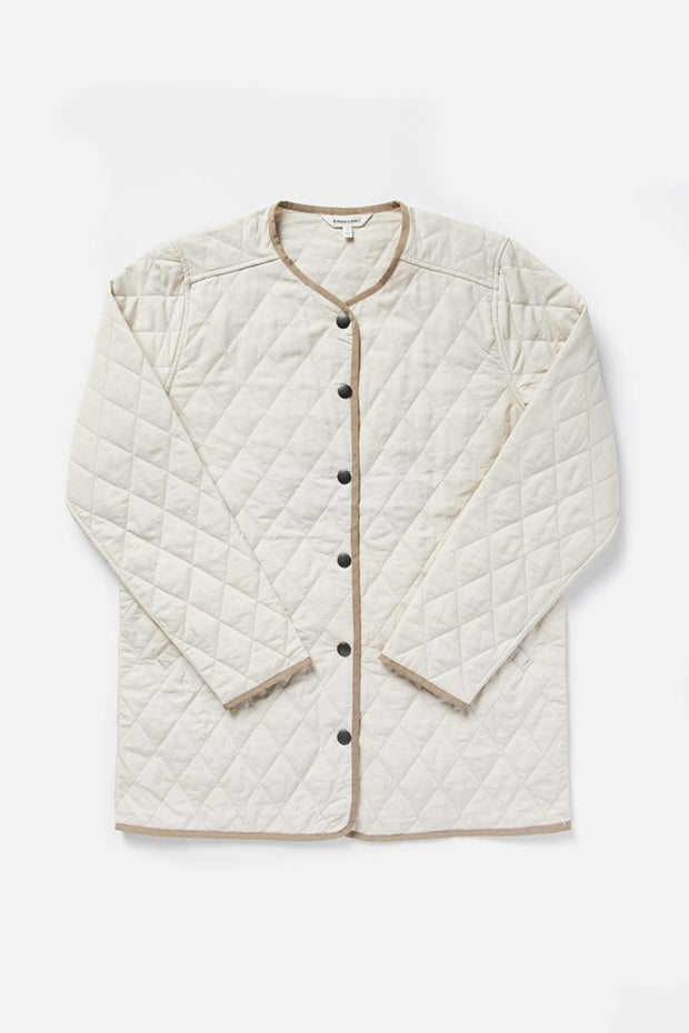 Women's Natural Lightweight Nylon Quilted Jacket