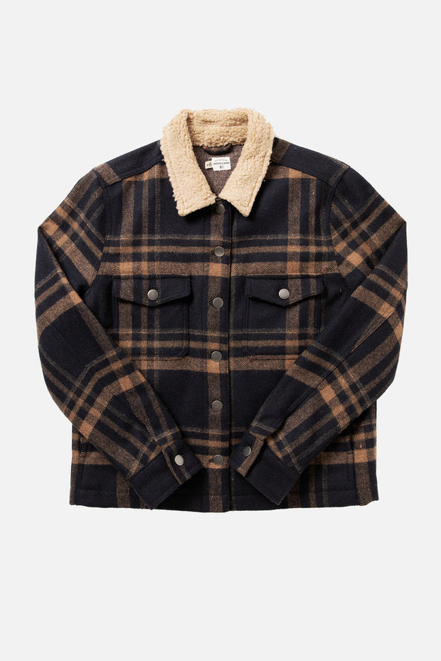 Wesley Plaid Cropped Wool Jacket