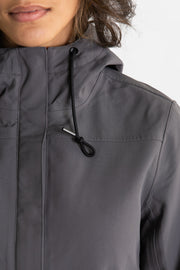 Nicholson Recycled Rain Jacket Charcoal