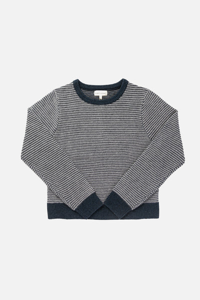 Remy Navy Heather Stripe