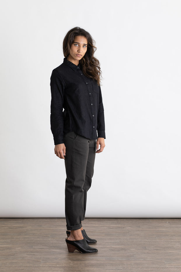 Gene Charcoal Doublecloth
