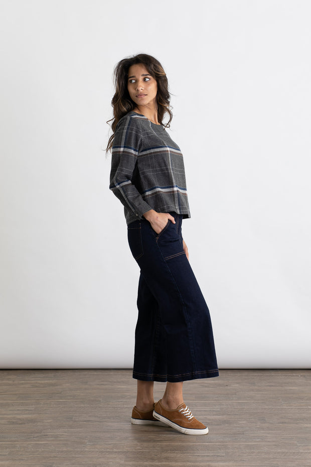 Louise Charcoal Plaid
