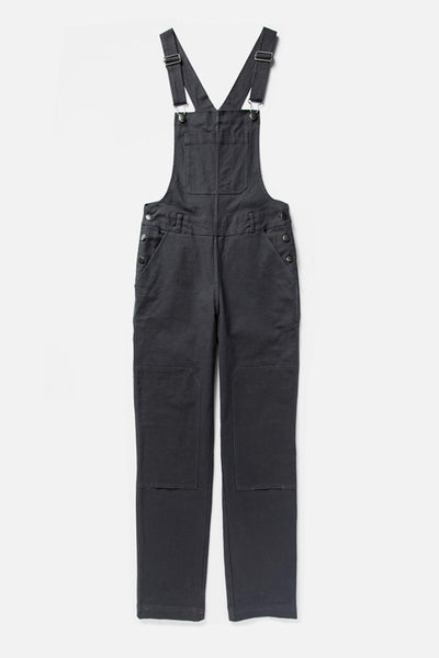 Women's Charcoal Straight-leg Overall