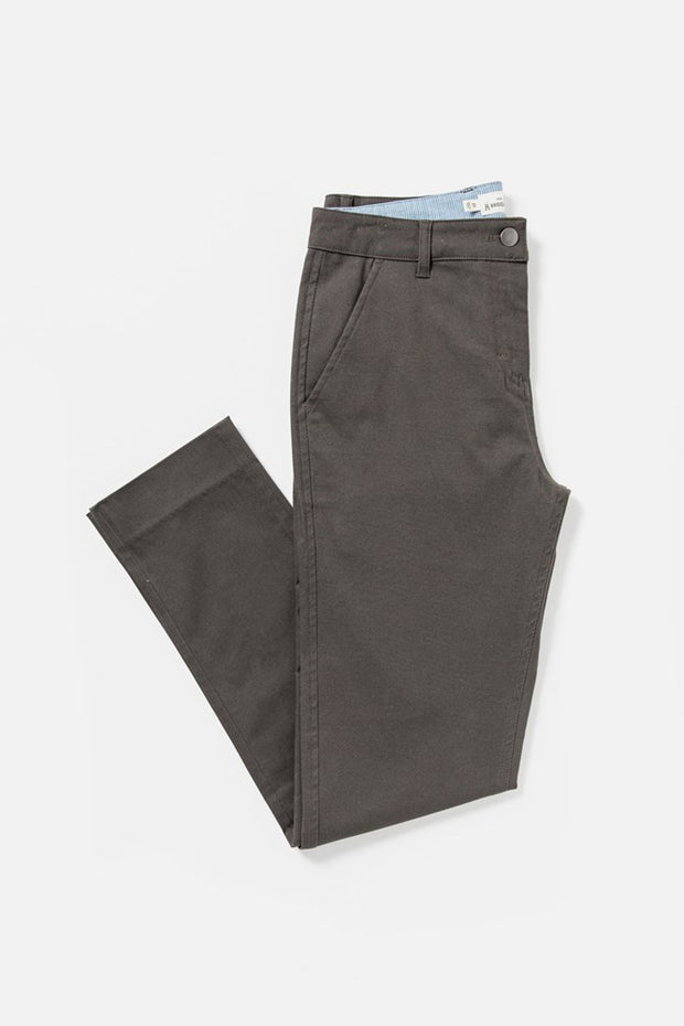 Women's Grey Mid-rise Straight-leg Cotton-blend Pant