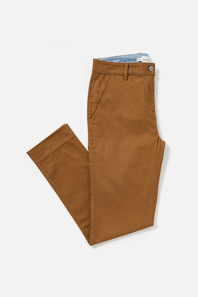 Women's Amber Mid-rise Straight-leg Cotton-blend Pant