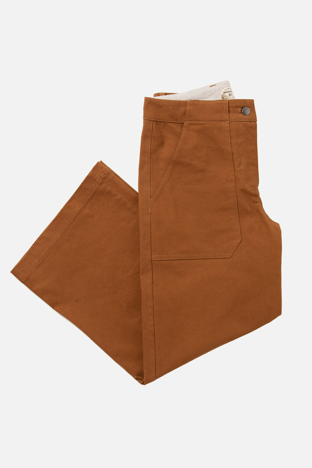 Women's Wide Leg High Rise Brown Pant