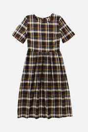 Perry Brown Plaid Dress