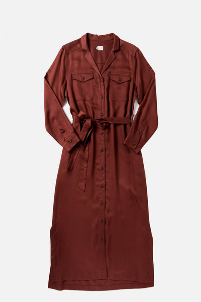 Talia Burgundy Tencel Dress
