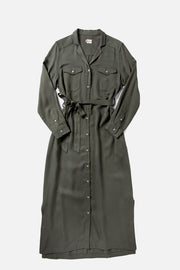 Talia Olive Tencel Dress