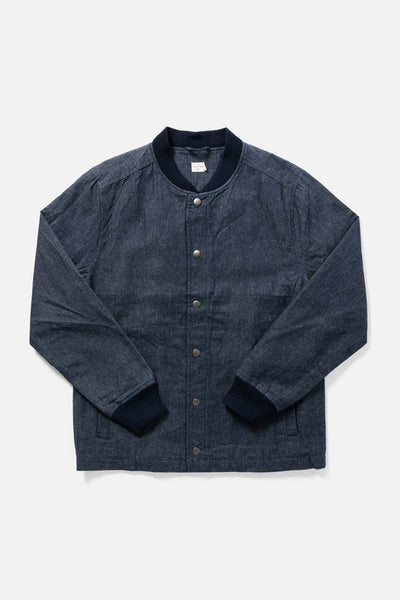 Men's Denim Waxed Canvas Varsity Jacket