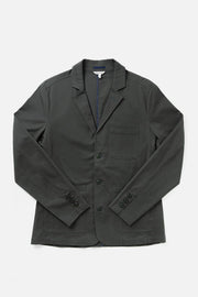 Men's Dark Grey Casual Cotton Blazer