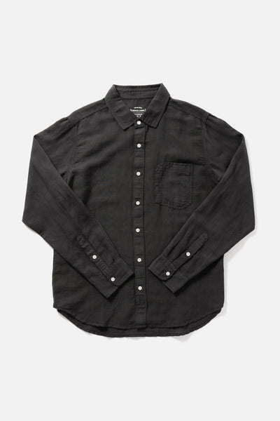 Men's Charcoal Slim-Fit Long-Sleeve Button-Up  Shirt