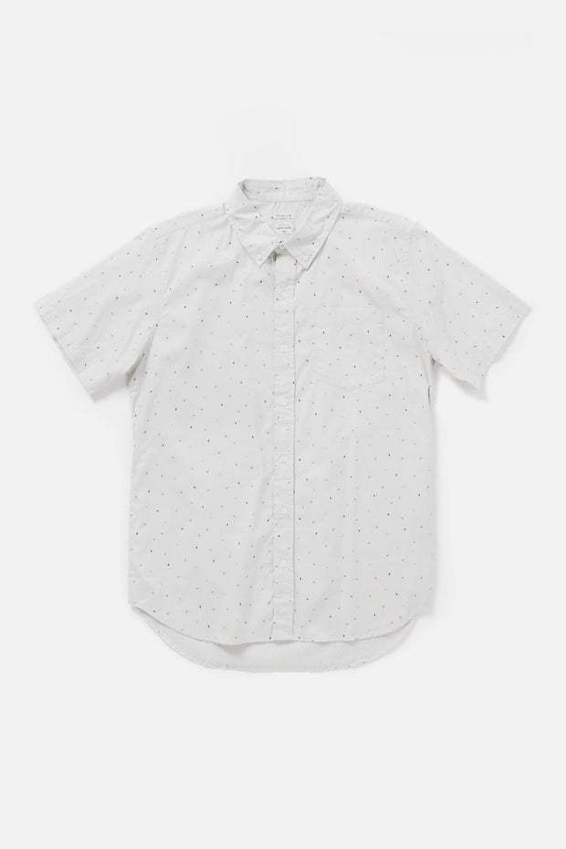 Men's Dot Printed Slim Button-Up Shirt