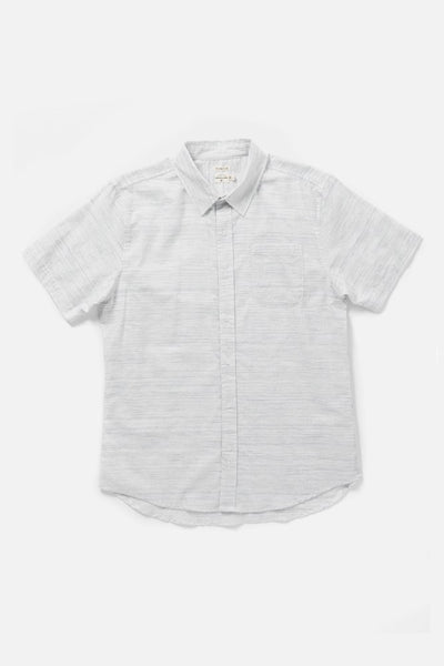 Men's Short Sleeve Light Blue Button-Up