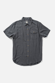 Men's Slate Pinstripe Short-Sleeve Button-Up Shirt