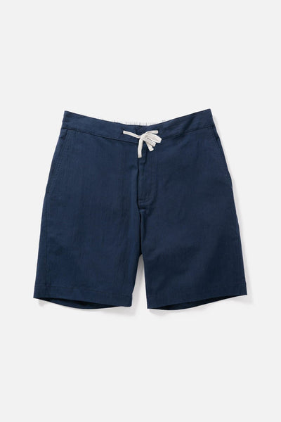 Men's Navy Relaxed Cotton Drawstring Shorts