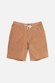 Men's Tan Relaxed Cotton Drawstring Shorts