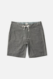 Men's Grey Relaxed Cotton Drawstring Shorts