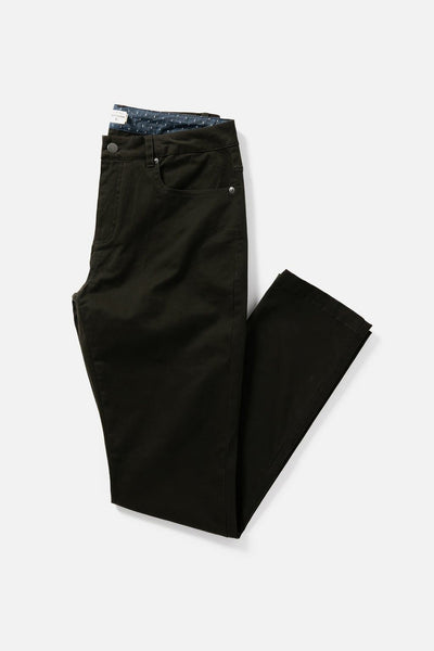 Men's Dark Brown Slim-Fit Chino Pants