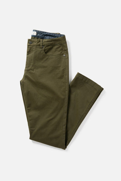 Men's Olive Green Slim-Fit Chino Pants