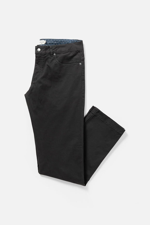 Men's Charcoal Straight-Fit Cotton Chino Pants
