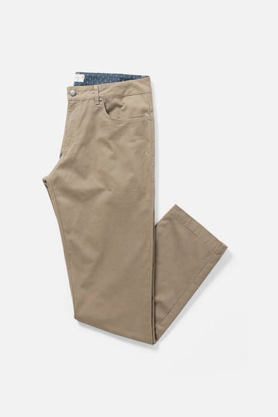 Men's Khaki Straight-Fit Cotton Chino Pants