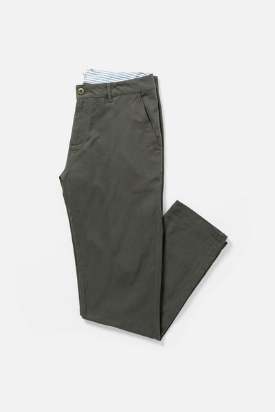 Men's Green Relaxed Fit Cotton Linen Chino Pants