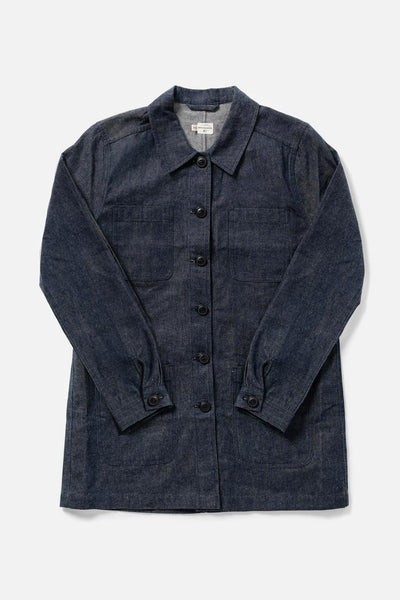 Women's Waxed Cotton Denim Chore Coat