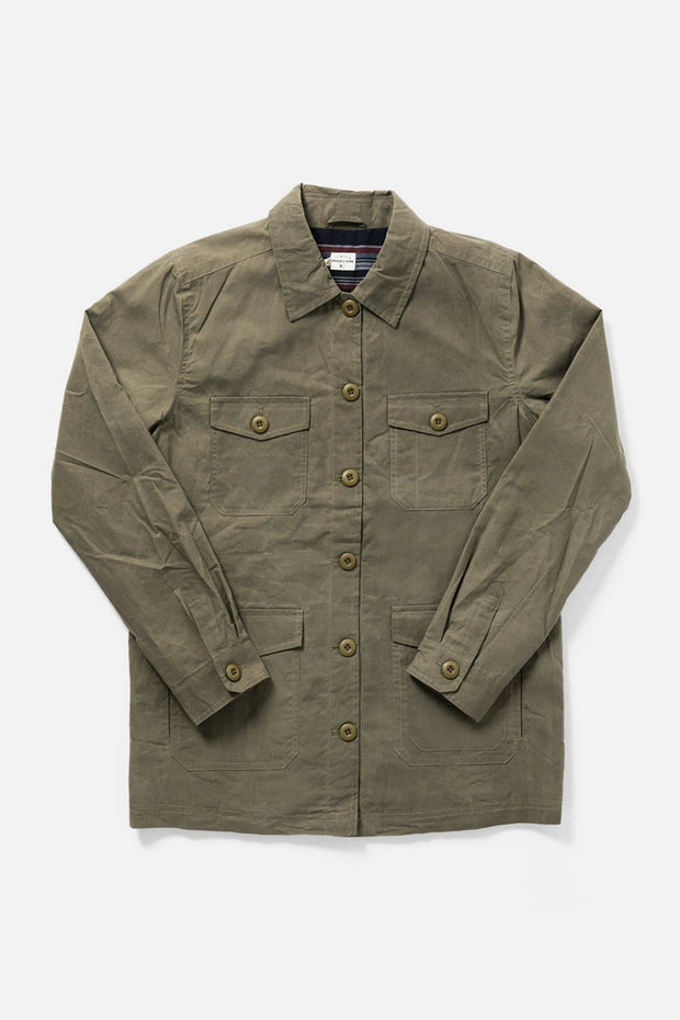 Women's Waxed Cotton Olive Jacket