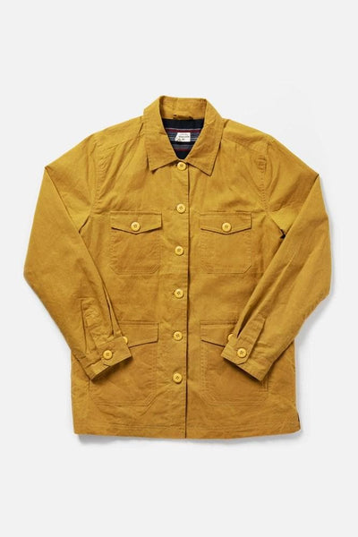 Women's Waxed Cotton Mustard Workwear Jacket