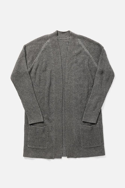 Women's Cozy Grey Cotton and Linen Cardigan