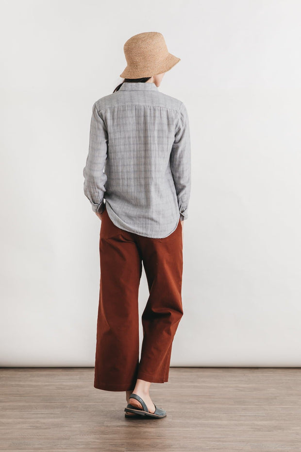 Ash Striped Doublecloth
