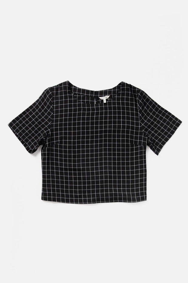 Leona Black Windowpane