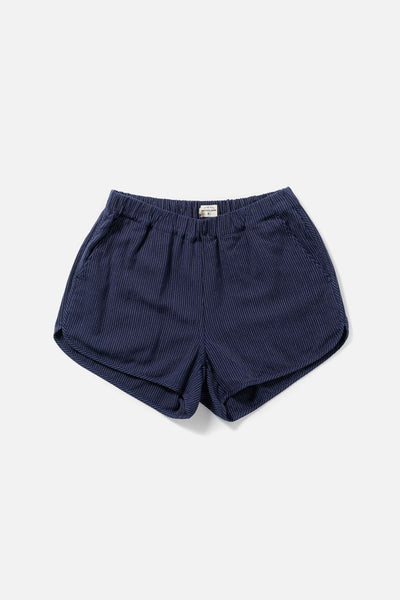 Women's Elastic Band Navy Shorts