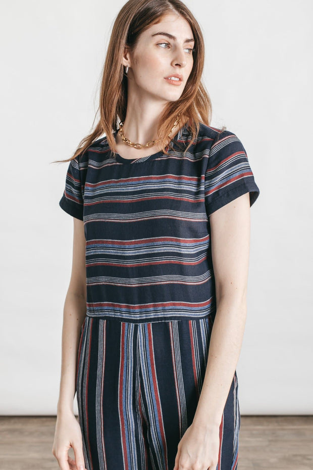 Wheeler Navy Stripe