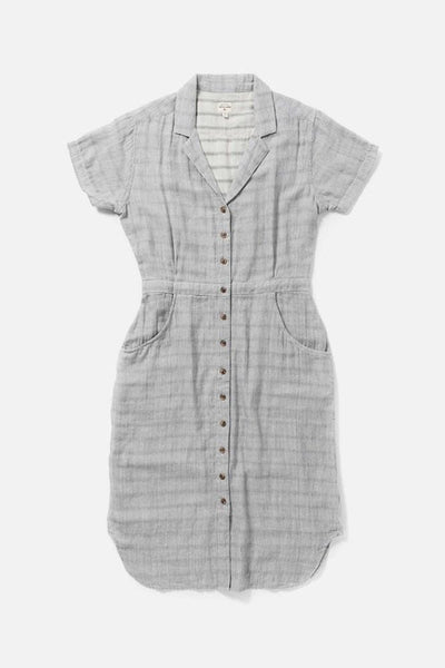 Women's Cotton Pin Stripe Doublecloth Dress