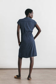 Lorane Navy Windowpane