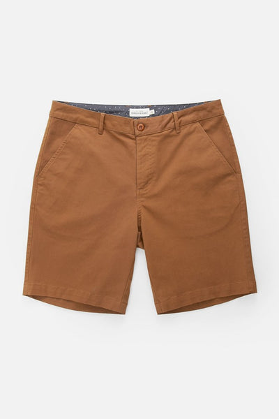 "Straight leg chino shorts with rear welt pockets and 10.5"" leg opening. 9"" Inseam"