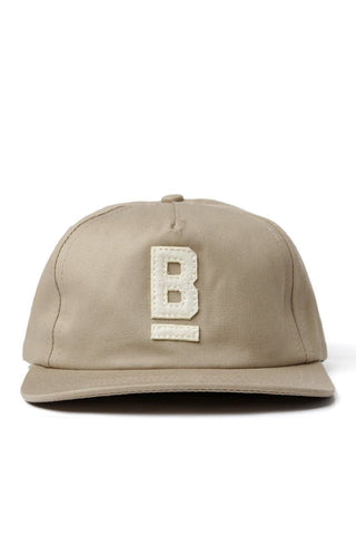 B Flat Cotton Twill Cap Khaki