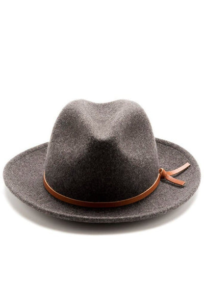 Luke Hat Charcoal Wool
