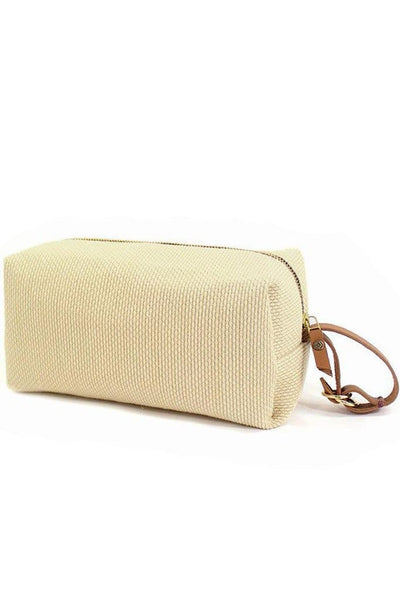 Kiriko Dopp Kit Kendo Natural Sashiko