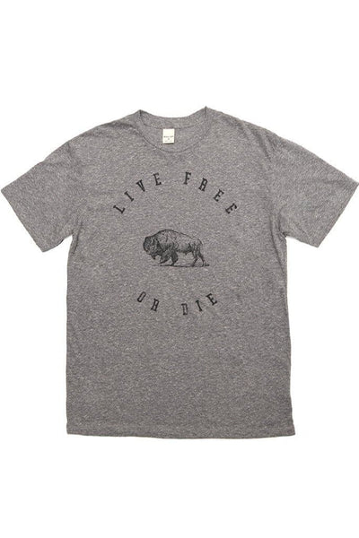 Men's Live Free Or Die Grey