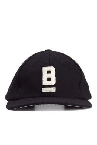 B Flat Wool Cap Black