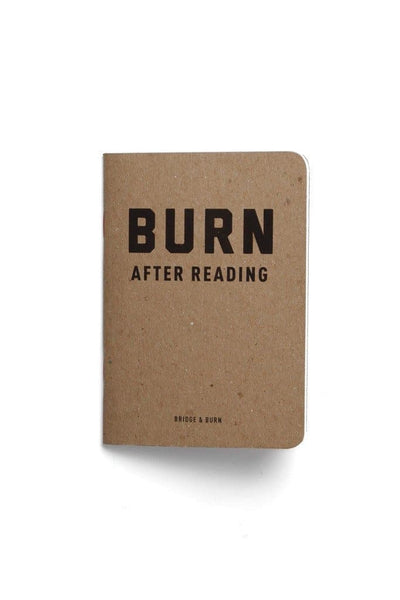 BURN After Reading Notebook