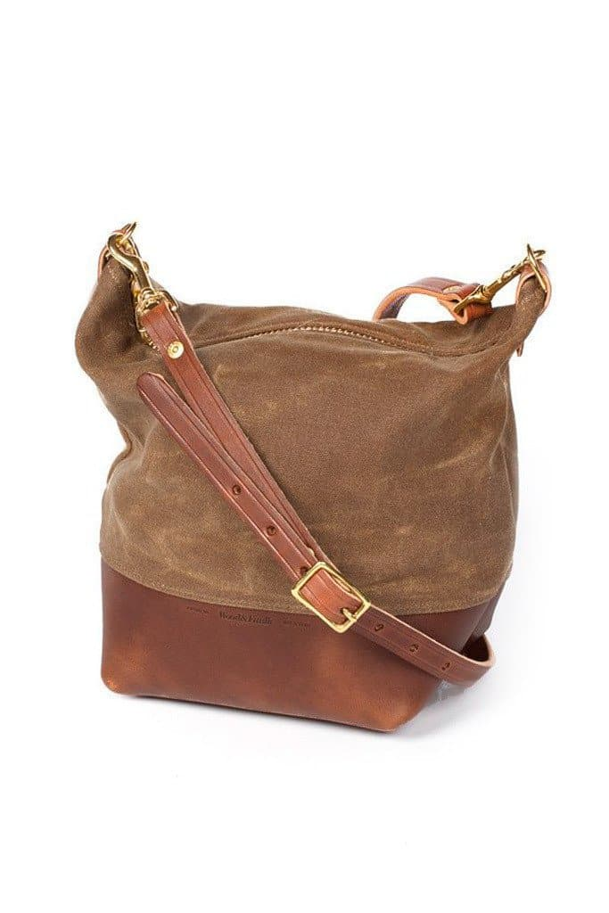 Wood&Faulk Field Bag Cascade Range Tan