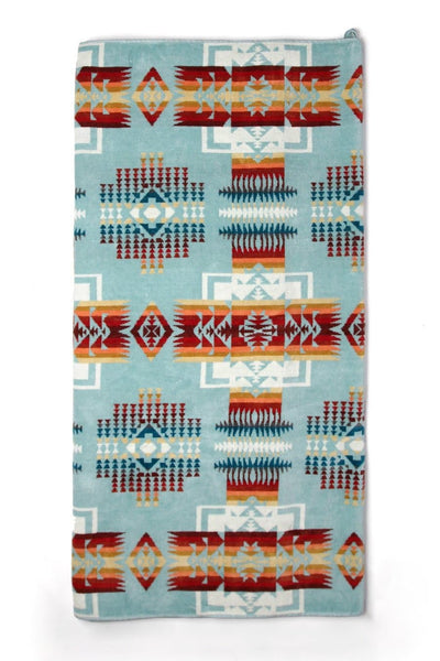 Pendleton Spa Towel Chief Joseph Aqua