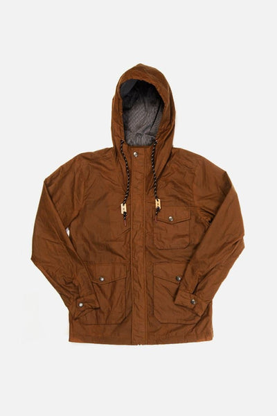 Bridge & Burn sherman cedarwood lightweight wax jacket mens hooded