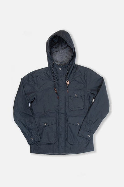 Bridge & Burn sherman slate lightweight wax jacket mens hooded
