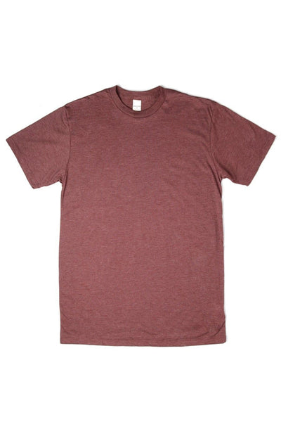 Men's Bridge & Burn Basic Tee Heather Wine