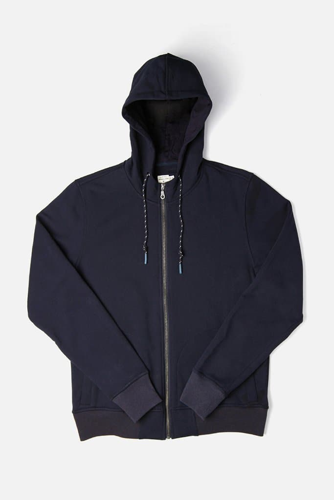 Bridge & Burn strand navy men's zip up sweatshirt